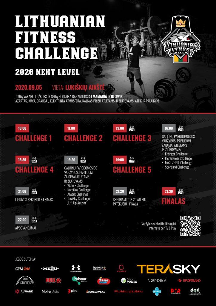 Fittness challenge renginio programa